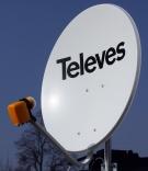 Antena satelitarna TELEVES 80 + konwerter QUAD 4 wyjścia SAT