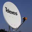 Antena satelitarna TELEVES 80 + konwerter SINGLE 1 wyjście SAT