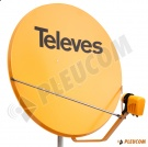 "TELEVES ANTENA SATELITARNA ""110"" HD Z KONWERTEREM LNB QUAD 4 WYJŚCIA SAT HD"