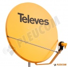 "TELEVES ANTENA SATELITARNA ""110"" HD POMARAŃCZOWA Z KONWERTEREM LNB SINGLE"